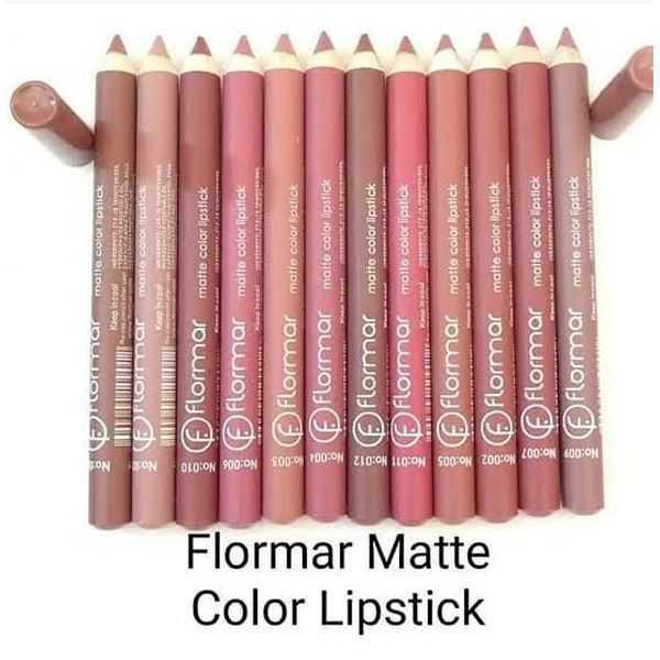 Flormar matte colour lipstick pencil pack of 12