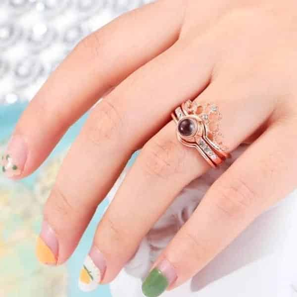I love you in 100 languages ring