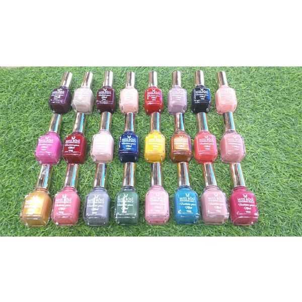 Miss rose professional makeup matte permanent long lasting nail polish pack of 24