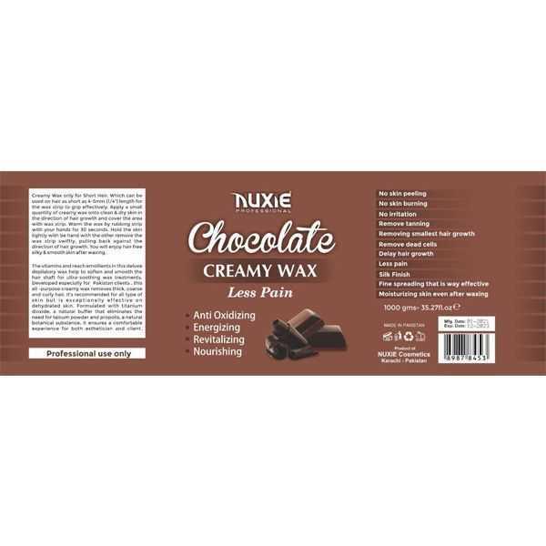 Nuxie chocolate creamy wax less pain 1kg