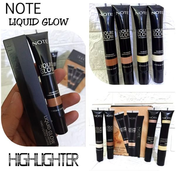 Note liquid glow highlighter pack of 4