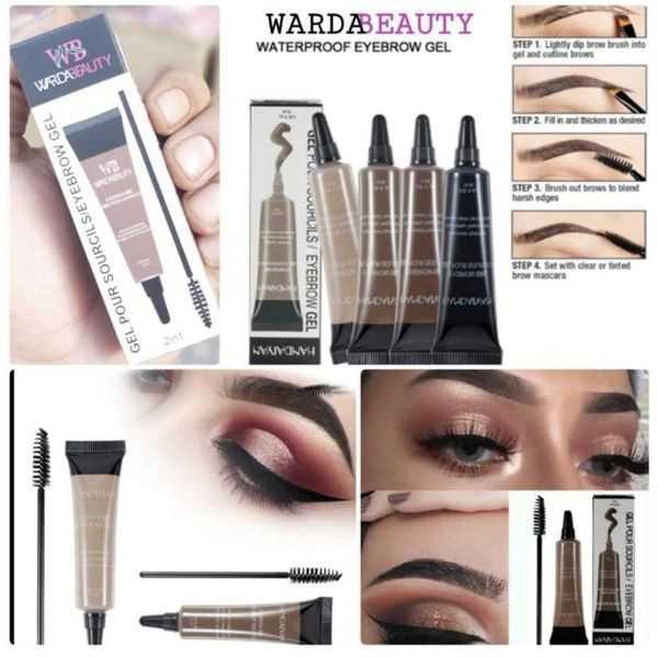 Warda beauty pour sourcips/eyebrow gel 2in1 gel & brush