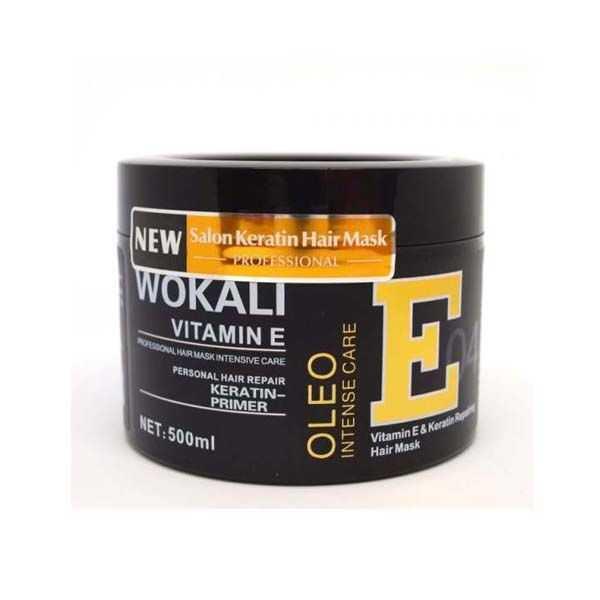 Wokali vitamin e ro-cellium keratin shampoo & hair mask oleo intense care pack of 2