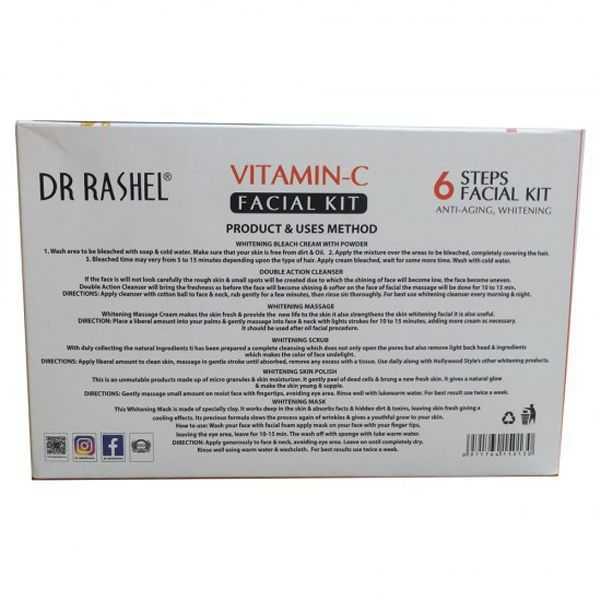 Dr Rashel 6 steps vitamin-c anti-aging whitening facial kit