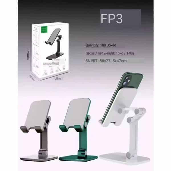 Fp3 desktop folding portable angle height adjustable cell phone stand