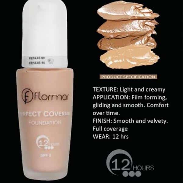 Flormar perfect coverage 12hrs foundation