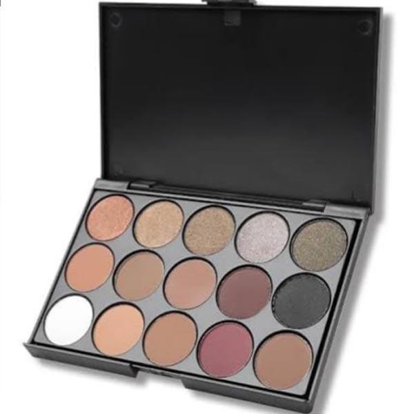 La mei la professional 15 color eyebrow + contour palette