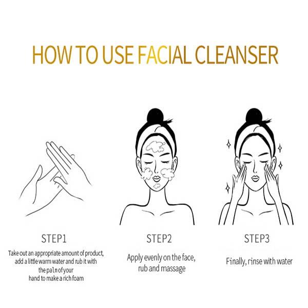 Dr rashel 24k gold anti-aging face wash 100g