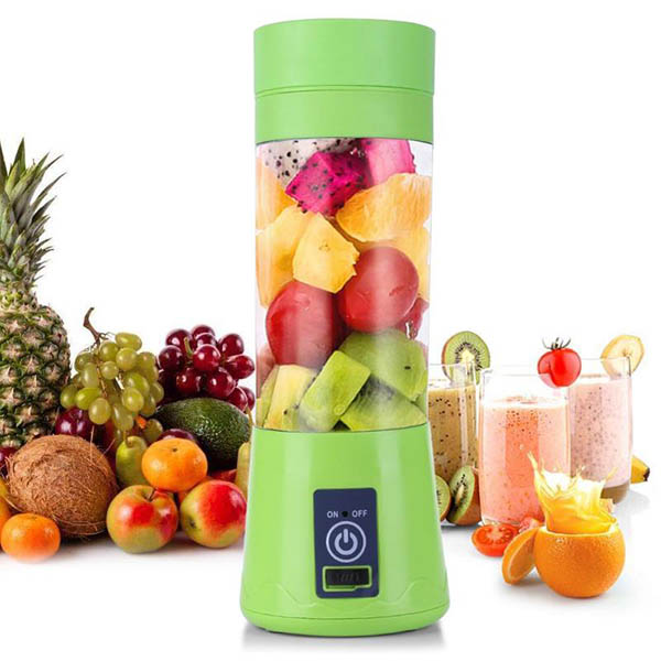 6 blades portable usb electric smart home juicer maker blender rechargeable cup with charging cable