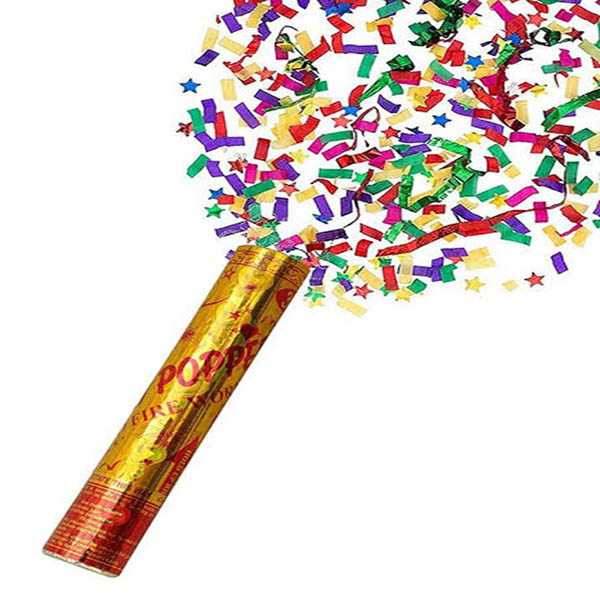 Birthday party poppers pack of 3